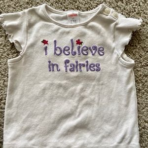 "Gymboree ""I believe in Fairies"" shirt 2T"